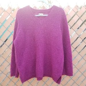 Sonoma Life+Style V-neck Fuzzy Pink Sweater